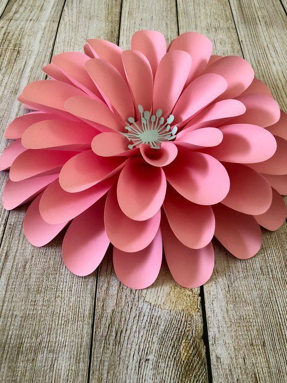 PDF Paper Flower Template - DIY Paper Flower For Event Decor and Wedding Decor - Printable Trace and Cut Files Handmade Home Decor
