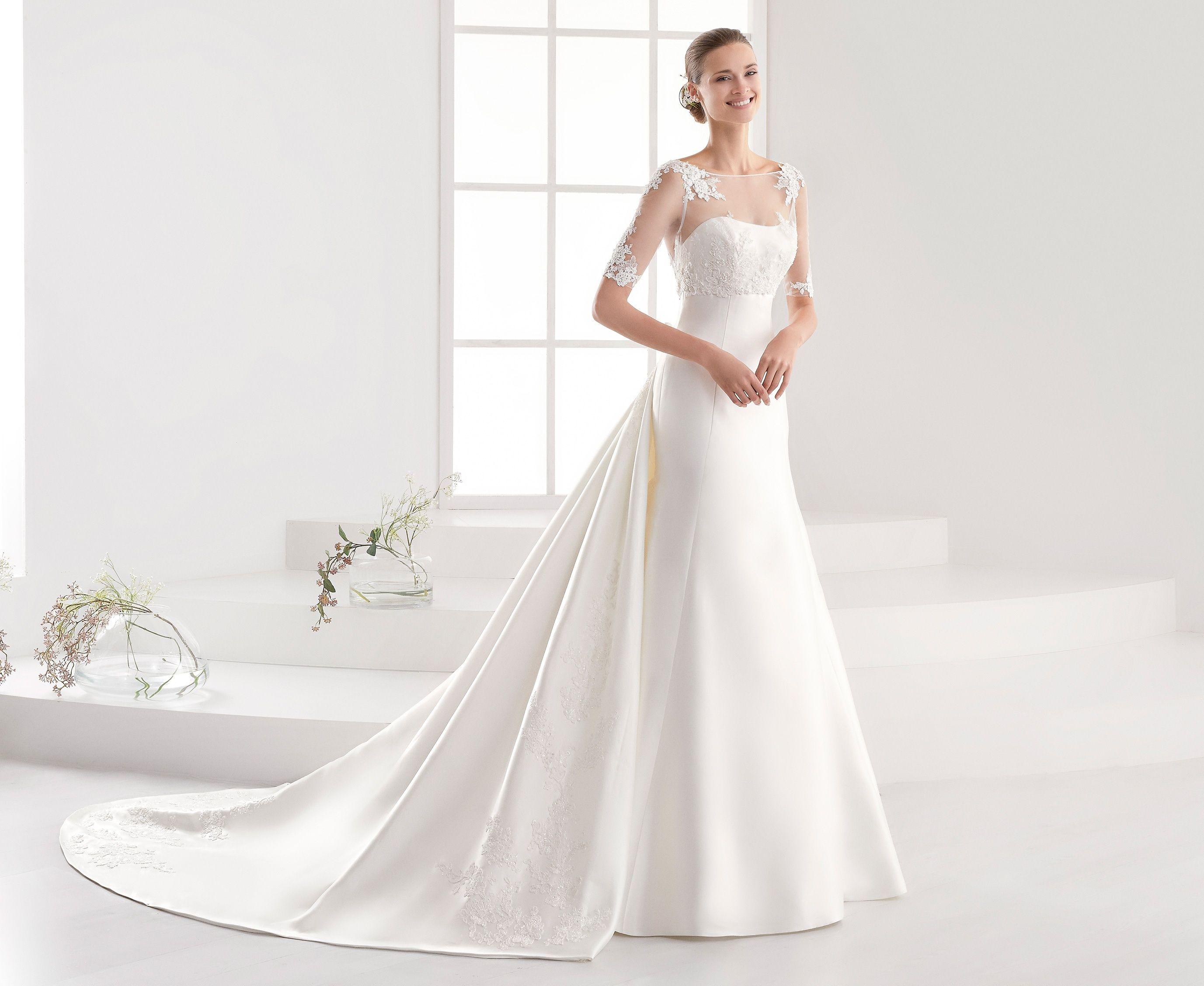 Moda Sposa 2018 Collezione Aurora Auab18953 Abito Da Sposa Nicole Abito Da Sposa A Tubino Abiti Da Damigella Abito Da Sposa A Trapezio