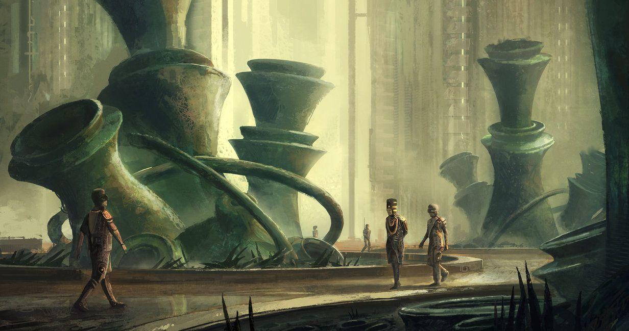 Retro sci fi botanical garden by Tryingtofly on DeviantArt