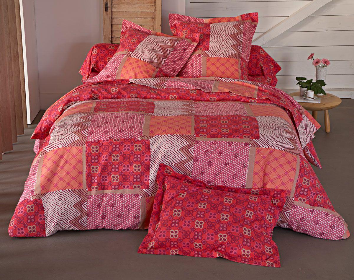 patchwork linge de lit Linge de lit flanelle patchwork petits motifs | BECQUET | BECQUET  patchwork linge de lit