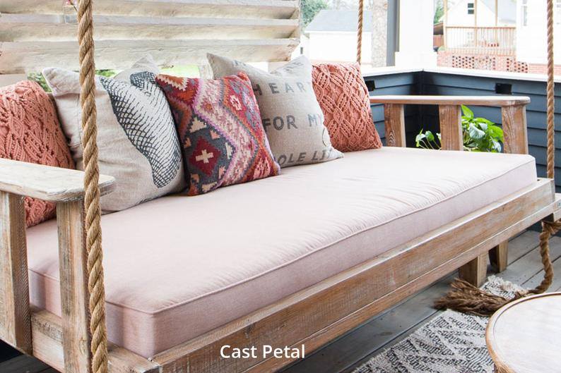 In Stock Sunbrella Daybed Custom Cushion Cover Standard Etsy In 2020 Outdoor Daybed Cushion Daybed Cushion Porch Swing Bed