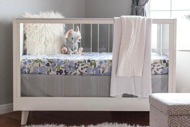 Baby Bassinet Pottery Barn Sloan Acrylic Convertible Crib Floral Crib Sheet Cribs