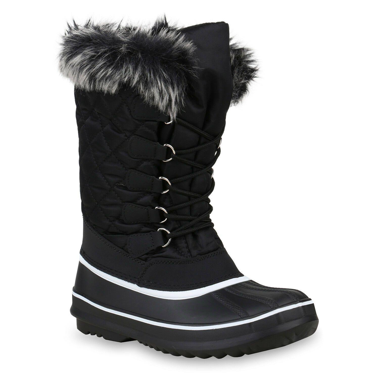 Damen Winterstiefel Warm Gefütterte Stiefel Kunstfell Winter