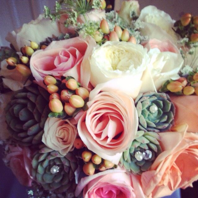 My Beautiful Bouquet Peach And Mint Green Wedding Theme By
