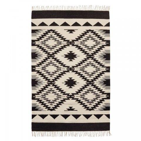 Teppich Modern, Teppich Design, Teppich Schwarz Weiß, Teppich Vintage