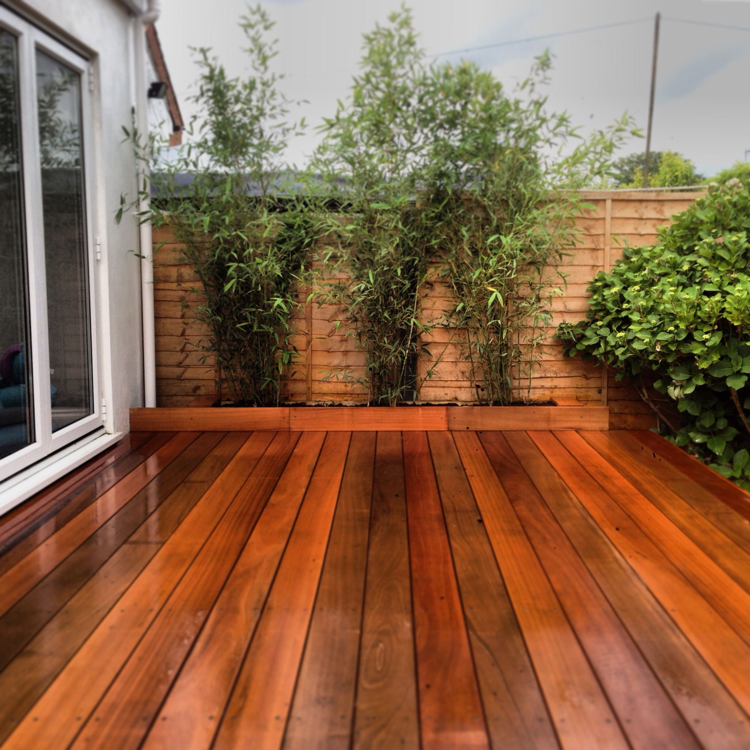 New hardwood decking and bamboo | deck y pergolas | Pinterest ...