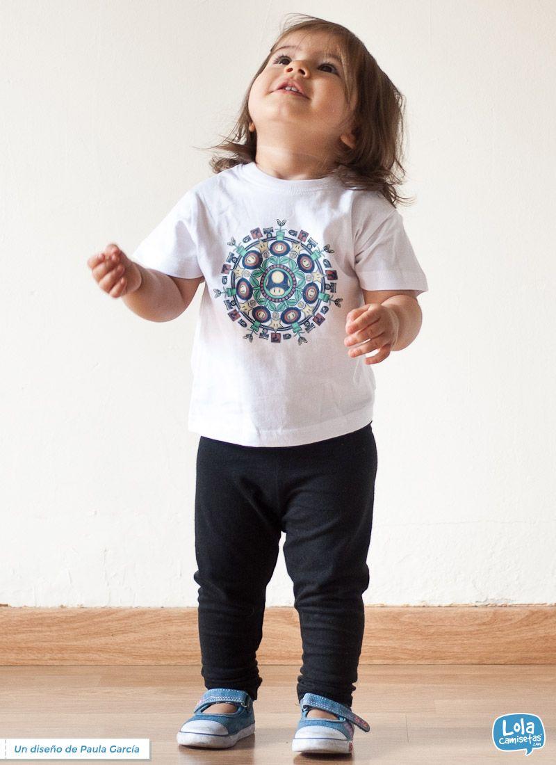 Mandala vida extra t-shirt | Design by Paula García