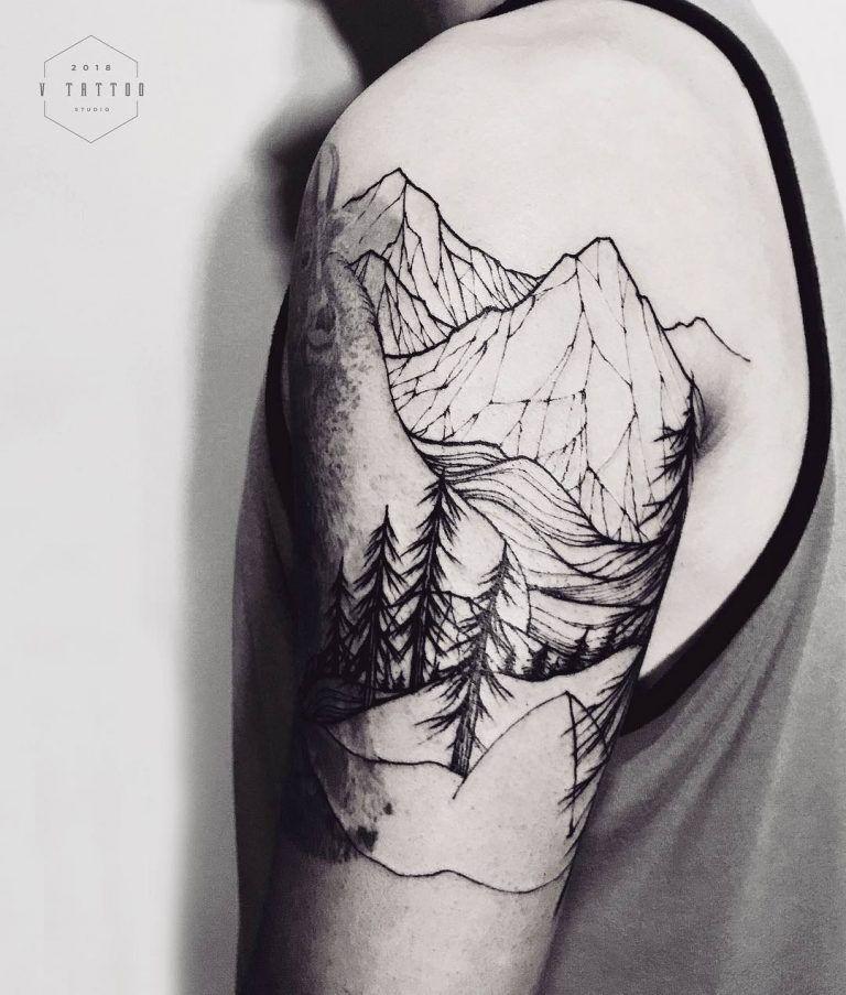 Photo of 125 Best Mountain Tattoos! Lets Climb High – Wild Tattoo Art