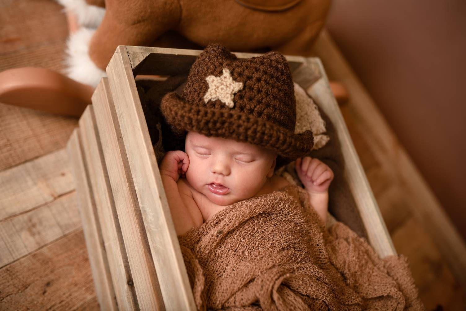 Cowgirl Hat - Crochet Cowboy Hat - Infant Cowboy Hat - Baby Cowboy ...