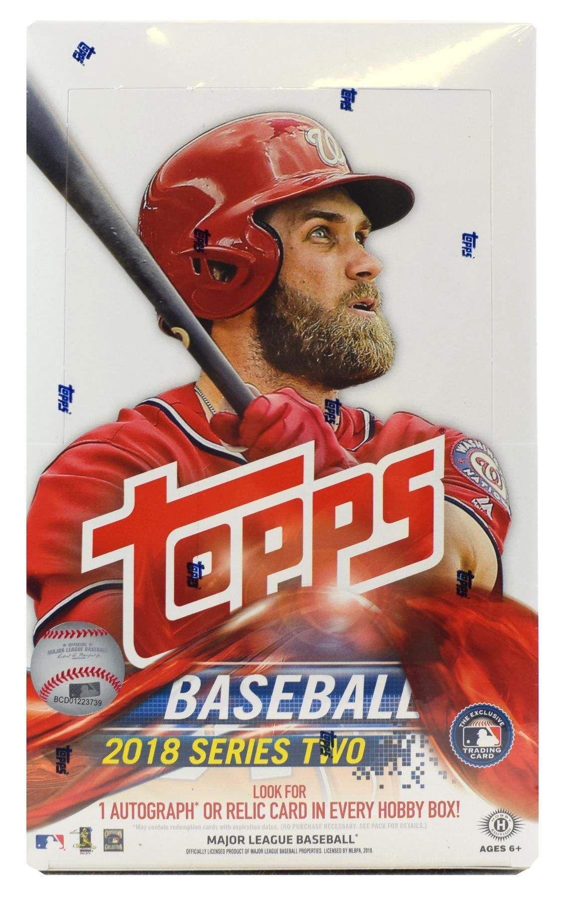 2018 Topps Series 2 Baseball Hobby Box (Plus 1 Silver Pack