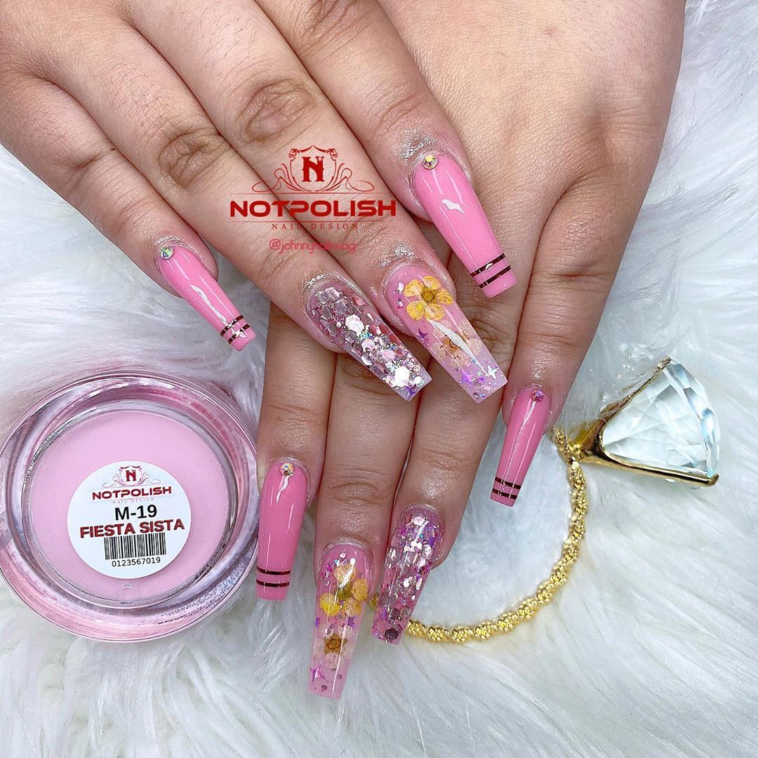 Johnny Swagger Nguyen On Instagram She Is Feeling Feisty With This Pink Worldofglitterltd Use Code Swag10 Notpolish Nailsof