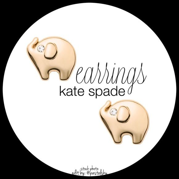 """KATE SPADE elephant earrings NEW never opened or used and in perfect condition. shiny gold elephant stud earrings. dust bag included.  drop length- 3/8"""" width- 7/16"""" weight- 2.26g material- 12k gold and enamel coating, 14k god filled posts  please don't hesitate to ask questions. happy POSHing    use offer feature to negotiate price on single item  i do not trade or take any transactions off poshmark, so please do not ask. kate spade Jewelry Earrings"""