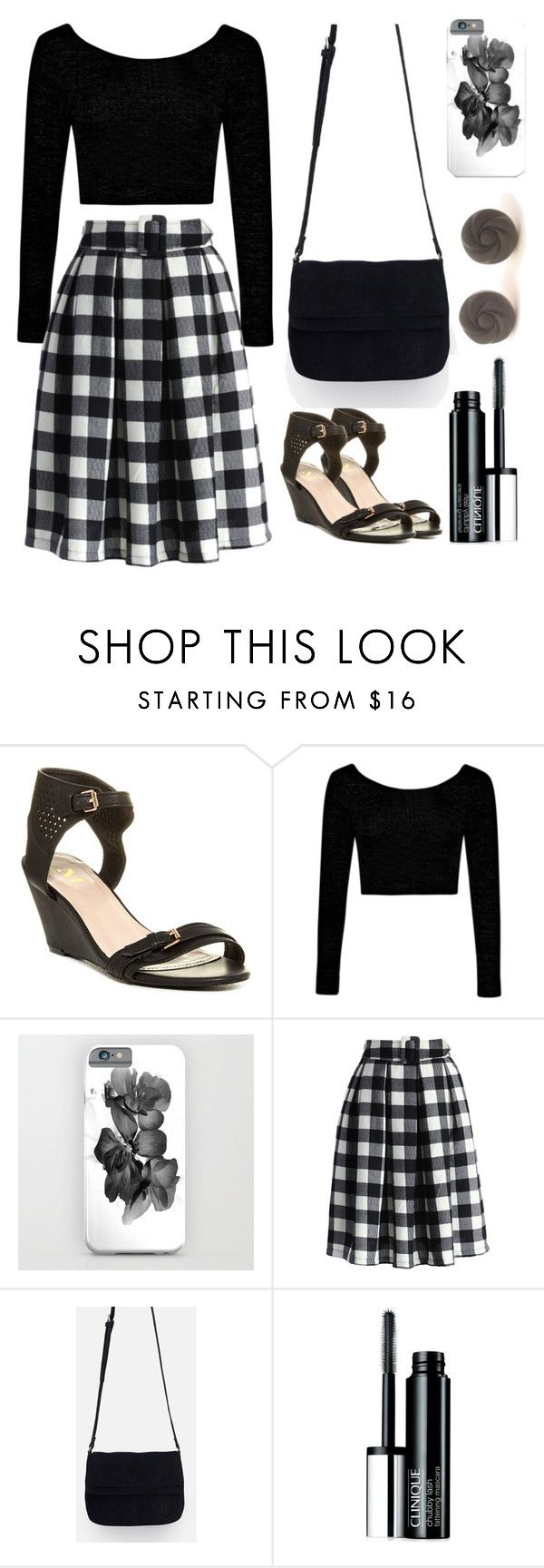 midi skirt in tartan by by-jwp on Polyvore featuring Boohoo, Chicwish, Modern Rush, Zara, Retrò and Clinique