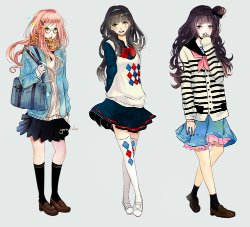Casual Women's Outfits การ์ตูน Pinterest Anime