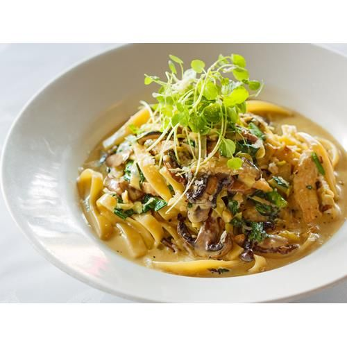 This chicken fettuccine is extremely popular at Ponsonby institution SPQR. It's the perfect indulgence – the richness comes from the cream, mushroom and leek