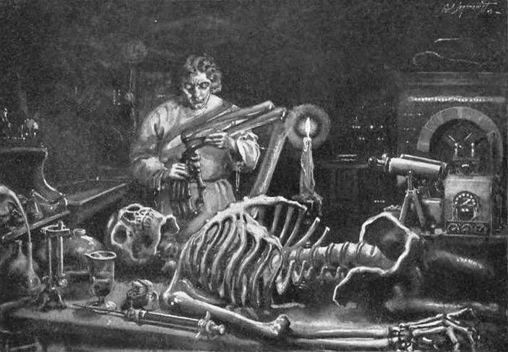 Mary Shelley – Frankenstein, or The Modern Prometheus, ilustración de la edición americana de 1922