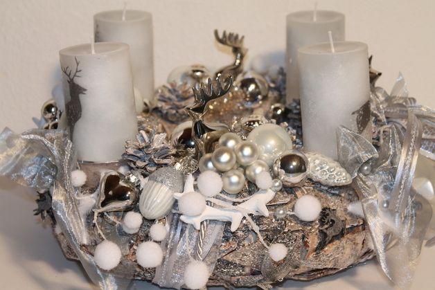 adventskranz adventskranz hirsche ein designerst ck. Black Bedroom Furniture Sets. Home Design Ideas