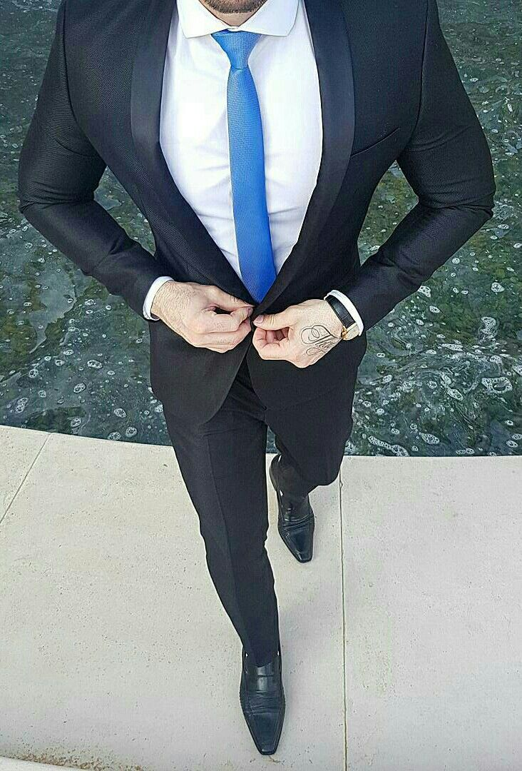 Pin von MontrellDemet auf Men in Blue Suits | Pinterest