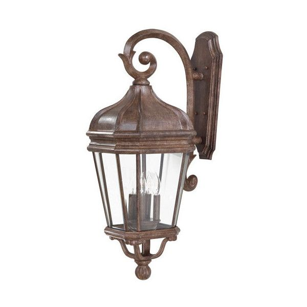 Minka-Lavery Harrison Large Outdoor Wall-Mounted Lantern ($393) ❤ liked on Polyvore featuring home, outdoors, outdoor lighting, vintage lantern, outdoor wall mounted lighting, vintage outdoor lighting, outdoor wall lights and outside lanterns