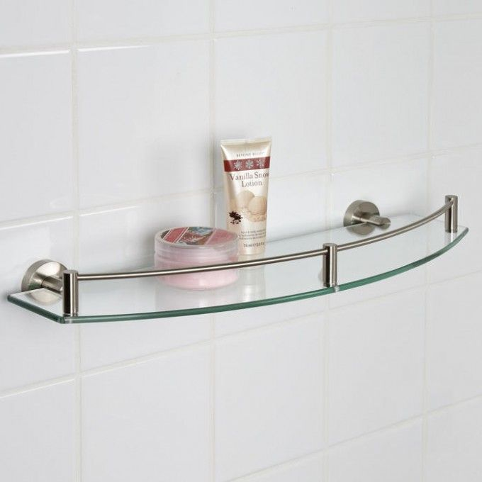 bristow curved tempered glass shelf bathroom shelves bathroom accessories bathroom - Bathroom Accessories Glass Shelf