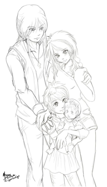 Day 91, Family Portrait WIP by darthmer-mer on deviantART
