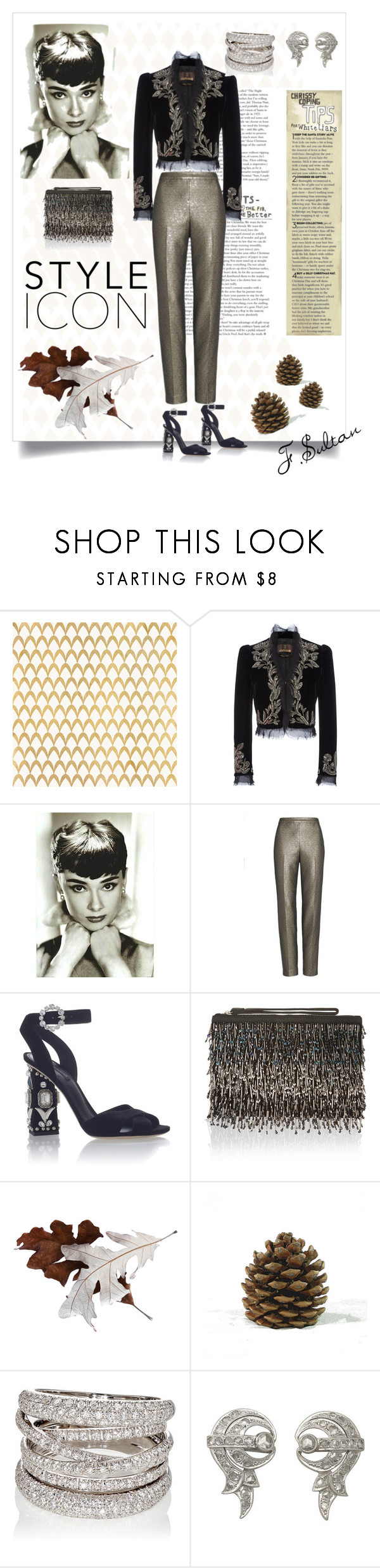 """Без названия #204"" by feruza-sultanova ❤ liked on Polyvore featuring Barclay Butera, Roberto Cavalli, St. John, Dolce&Gabbana, Accessorize and Sidney Garber"