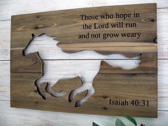 Horse Wall Art With Scripture