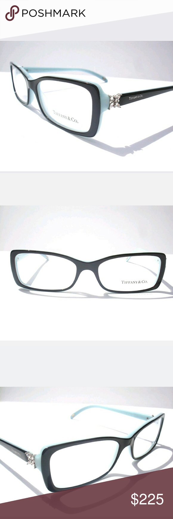 tiffany and co eyeglasses new and authentic tiffany and co eyeglasses black and teal frame size