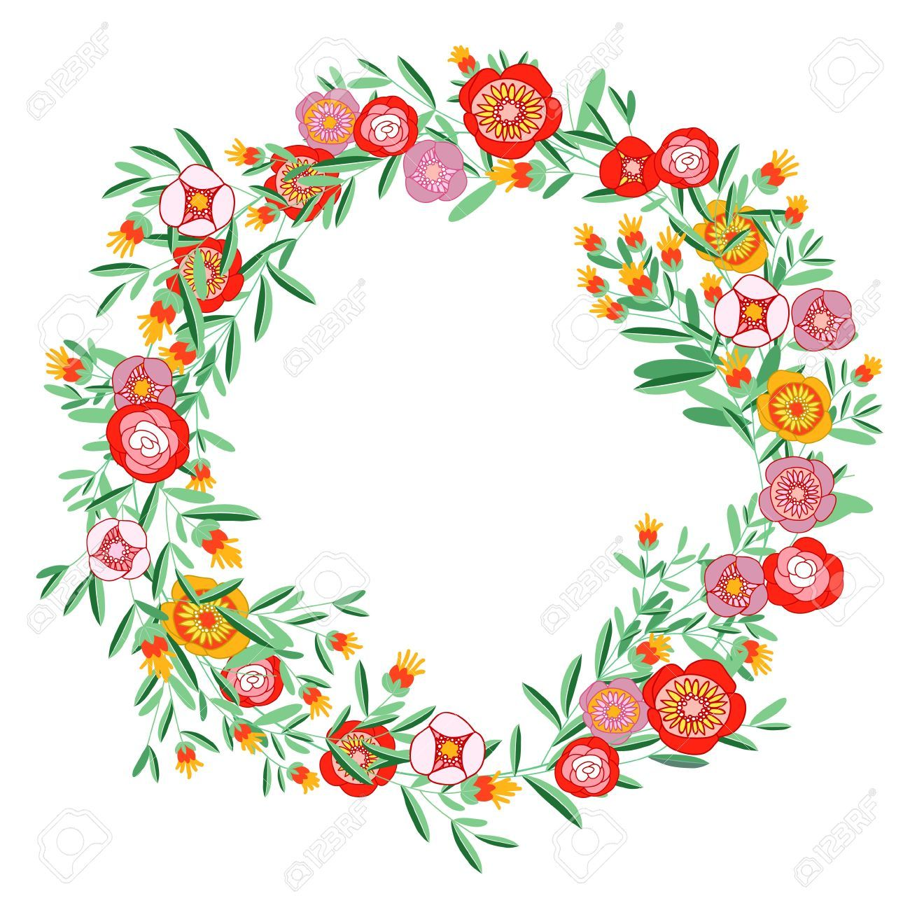 circle floral wreath clip art google search diy projects rh pinterest com Wedding Flower Clip Art wedding wreath clipart free