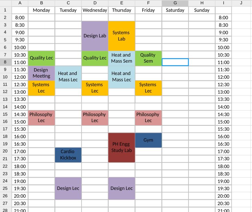 Comment faire un planning semaine sur Excel Planning