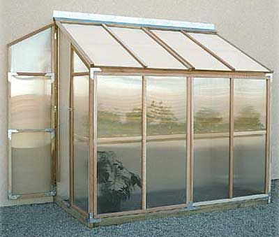 Mini Lean-To Greenhouse Idea