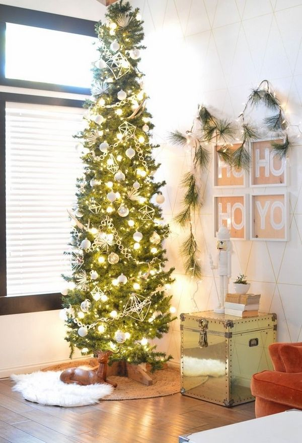 Christmas Trees For Small Apartments.Pencil Christmas Tree Ideas Small Apartment Decorating Ideas