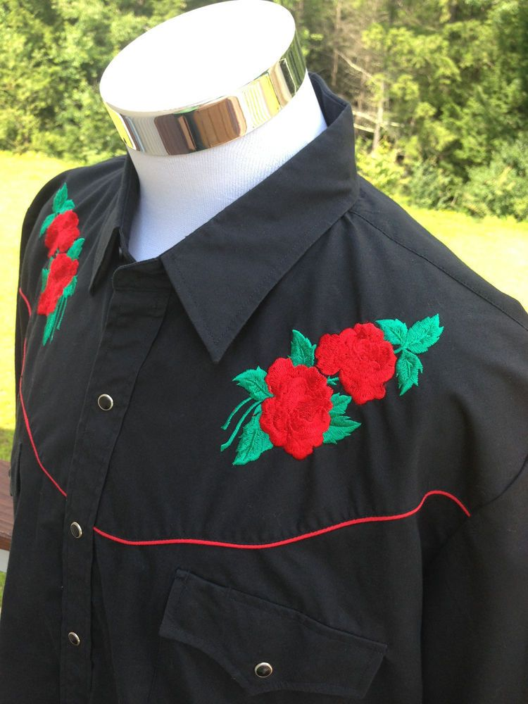 Embroidered Western Shirts For Men