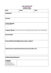 Siop Lesson Plan Template 4   Google Search Ideas