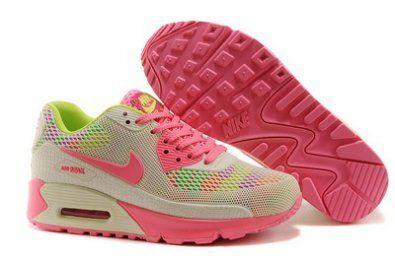 Nike Air Max 90 KTPU Correr rosa / gris http://www.esnikerun.com/