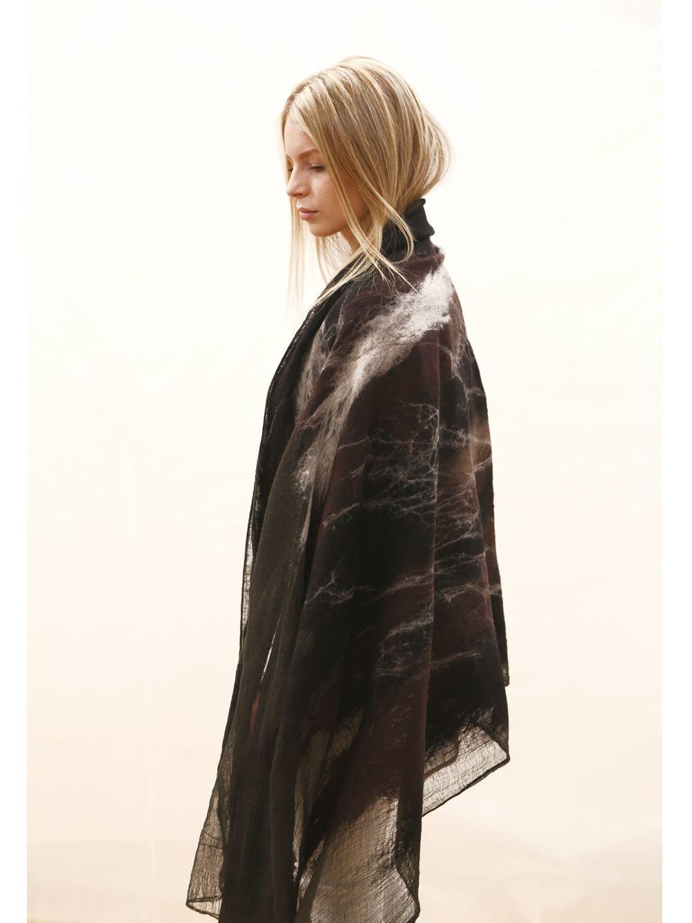 371fcce0e slowlab firenze felt OVERSIZED merino wool scarf | Scarves | Blanket ...