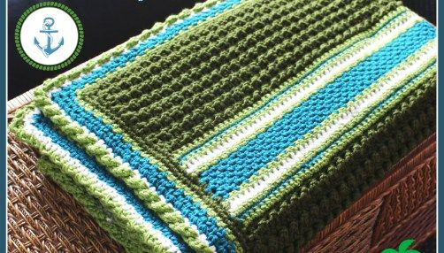 New Crochet Pattern - Coastal Splendor Blanket