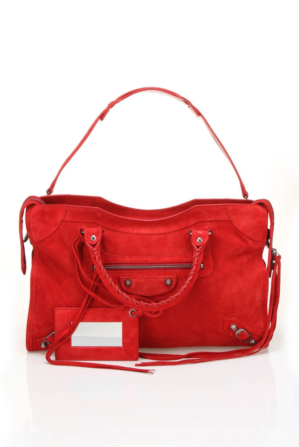 f91c545f1df8 Balenciaga Baby Daim City Handbag In Red Replica Handbags