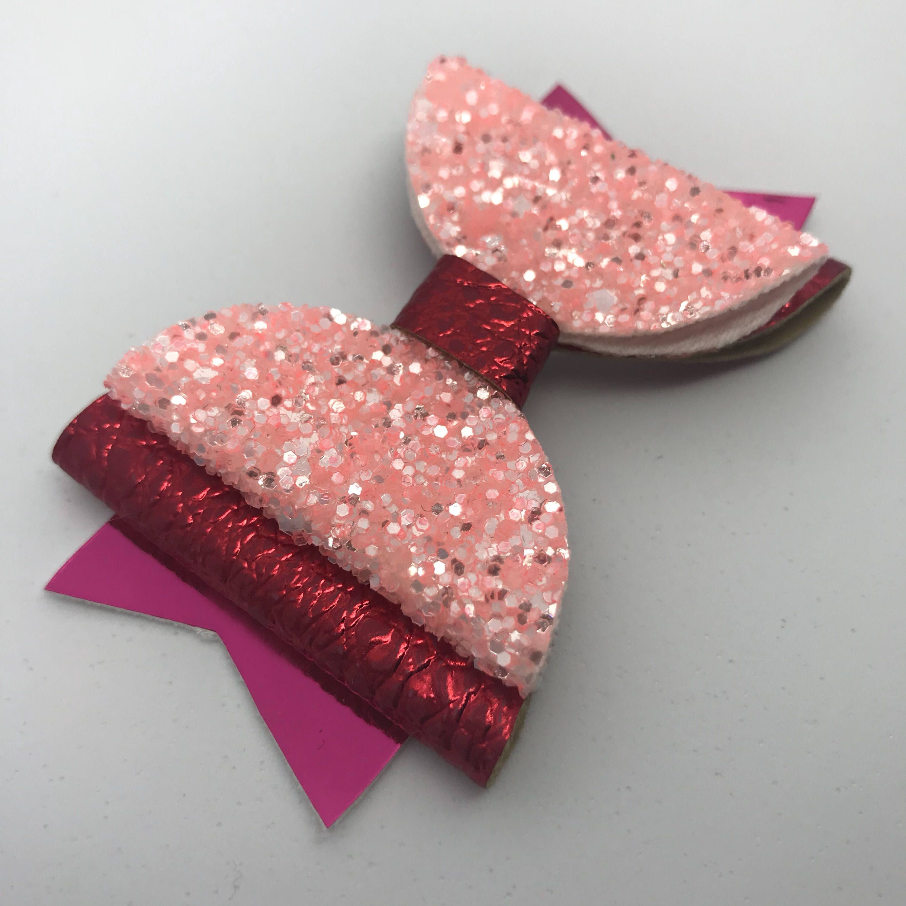 1 x Girls Handmade Little Mix Hair Bow Accessory on alligator clip approx 3.5/""