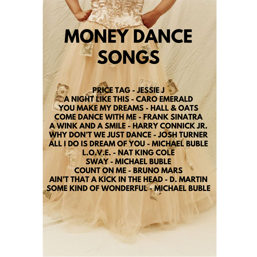 The Money Dance Should Be Fun So Why Not Dance With Your Guest To Fun Songs Http Www Muirmusic Com Money Dance Wedding Money Dance Dollar Dance Songs