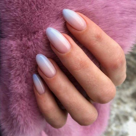 Natural Ombre Almond Acrylic Nails Are You Looking For Short And Long Almond Shape Acrylic Nail Designs See Our Coll Nails Trendy Nails Natural Acrylic Nails