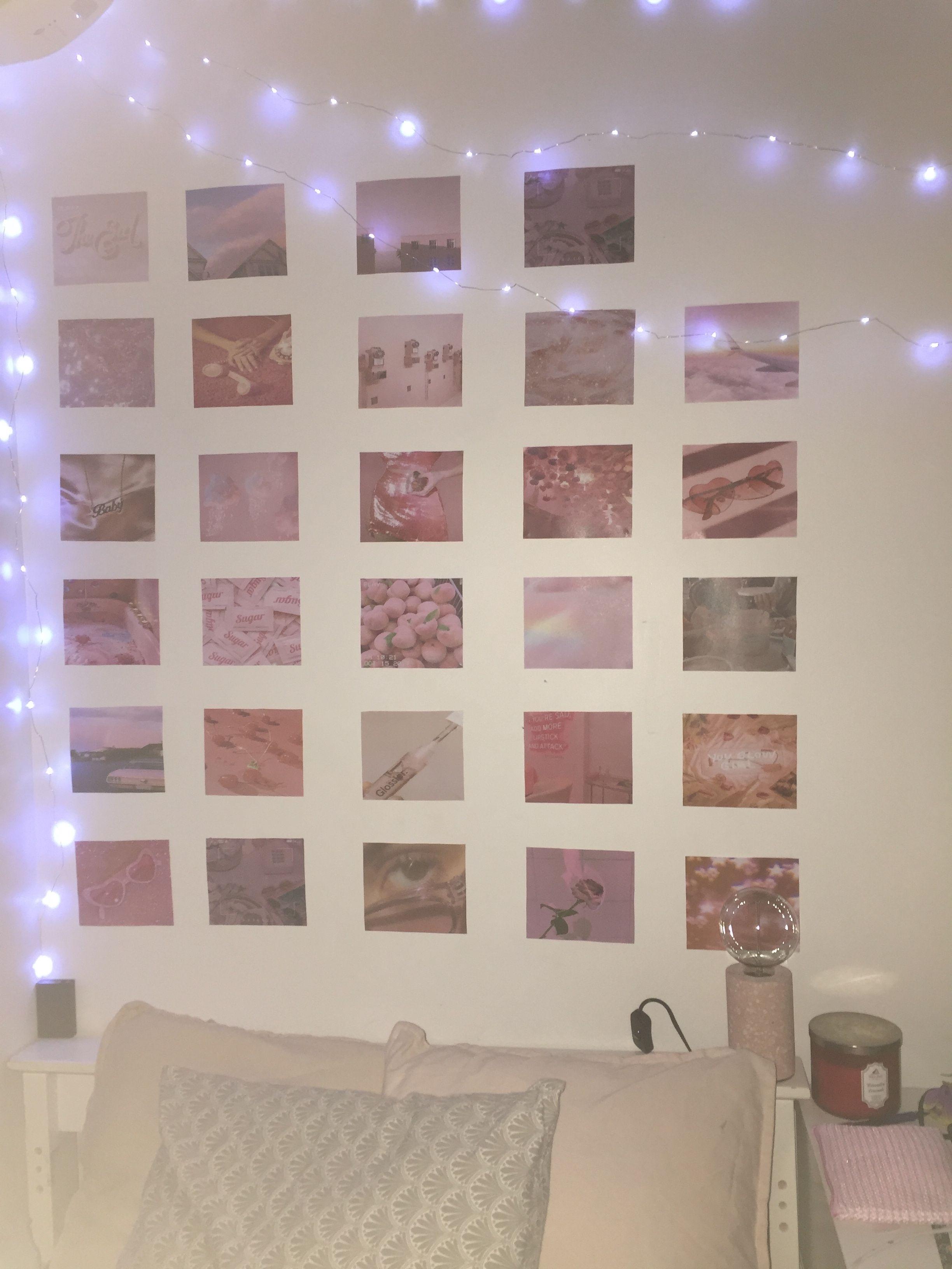 Aesthetic Pink Photo Bedroom Wall Pink Bedroom Decor Pink Bedroom Walls Photo Walls Bedroom