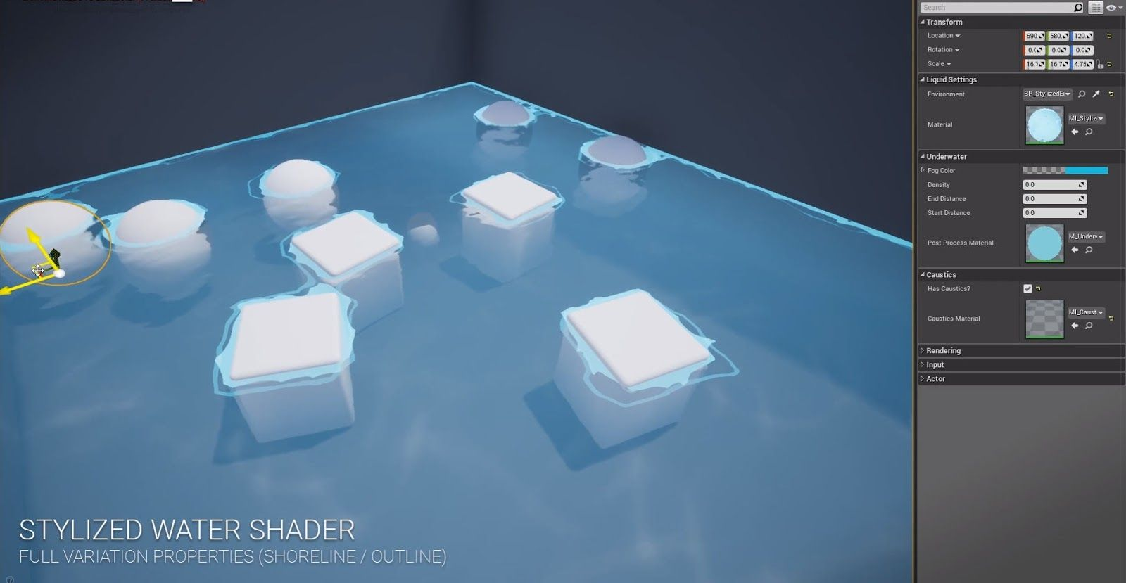 Stylized Water Shader for Unreal Engine 4 | CG Daily News