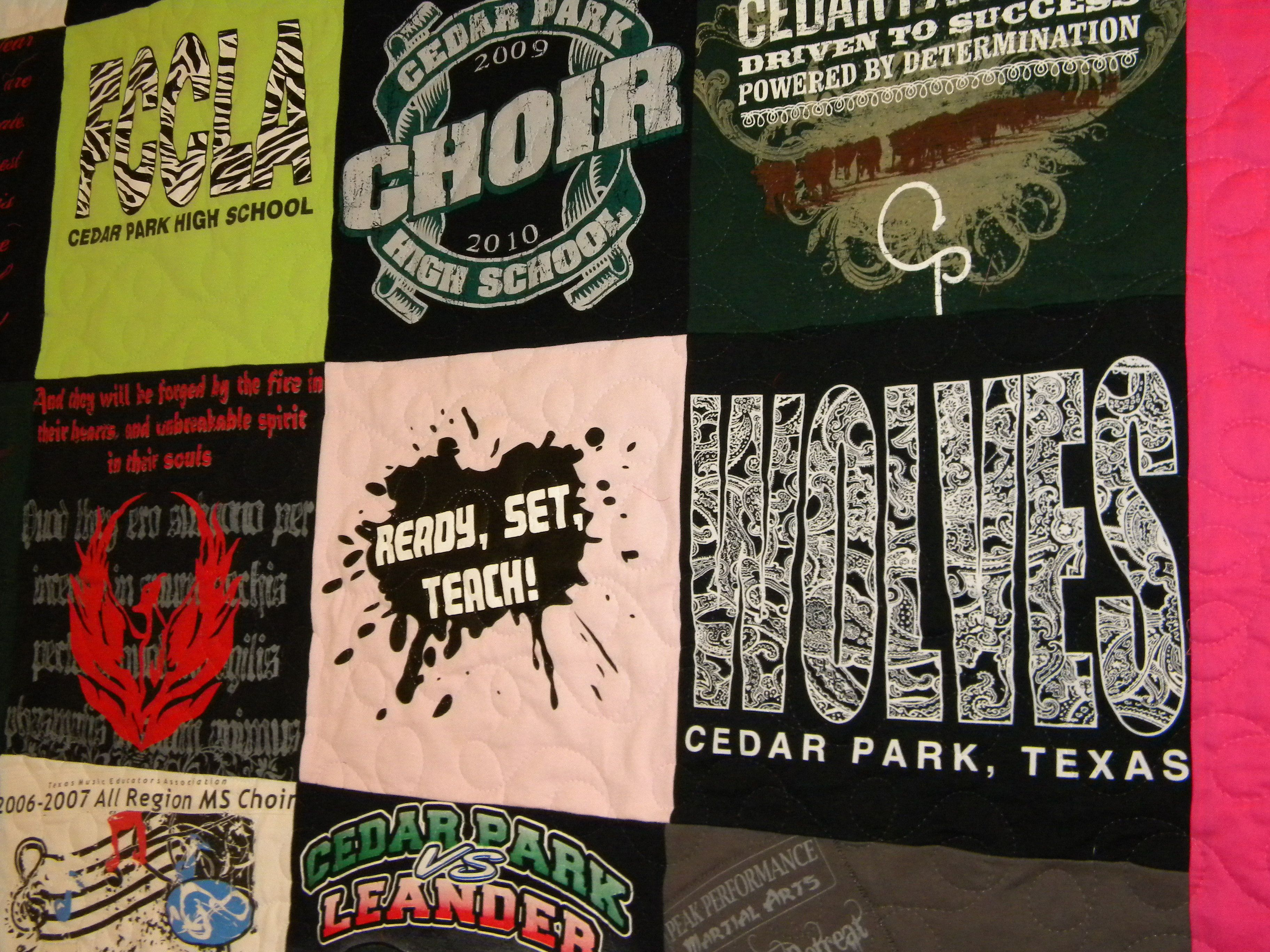 Cedar Park Choir T-shirt Quilt