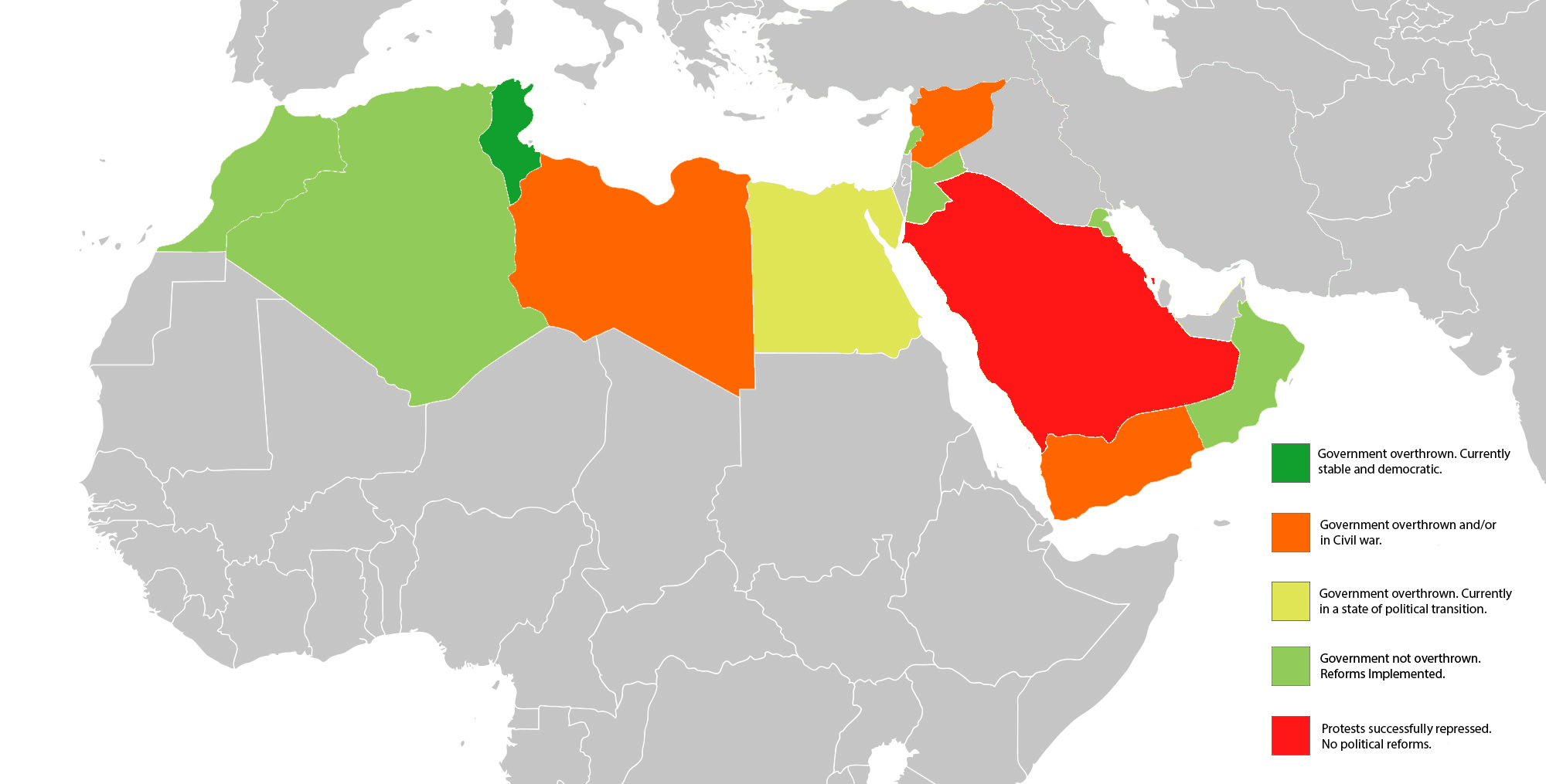 Current state of 'Arab Spring' countries. | Map, Cartography ... on map of syria and libya, map of middle east arab countries, map of arab world countries, map of arab spring protests to from today, map of middle east uprising, map of south west africa, map of middle east and africa, map of arab spring protests in bahrain, map of the arab spring, map of arab countries and their capitals in arabic, map of arab region, map of the arab countries, which are the arab countries,