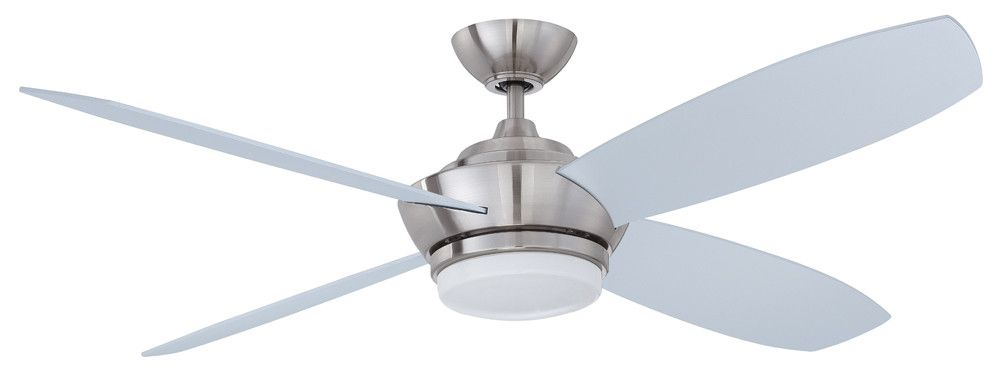 52 Zeta 4 Blade Ceiling Fan With Wall Remote Ceiling Fan With