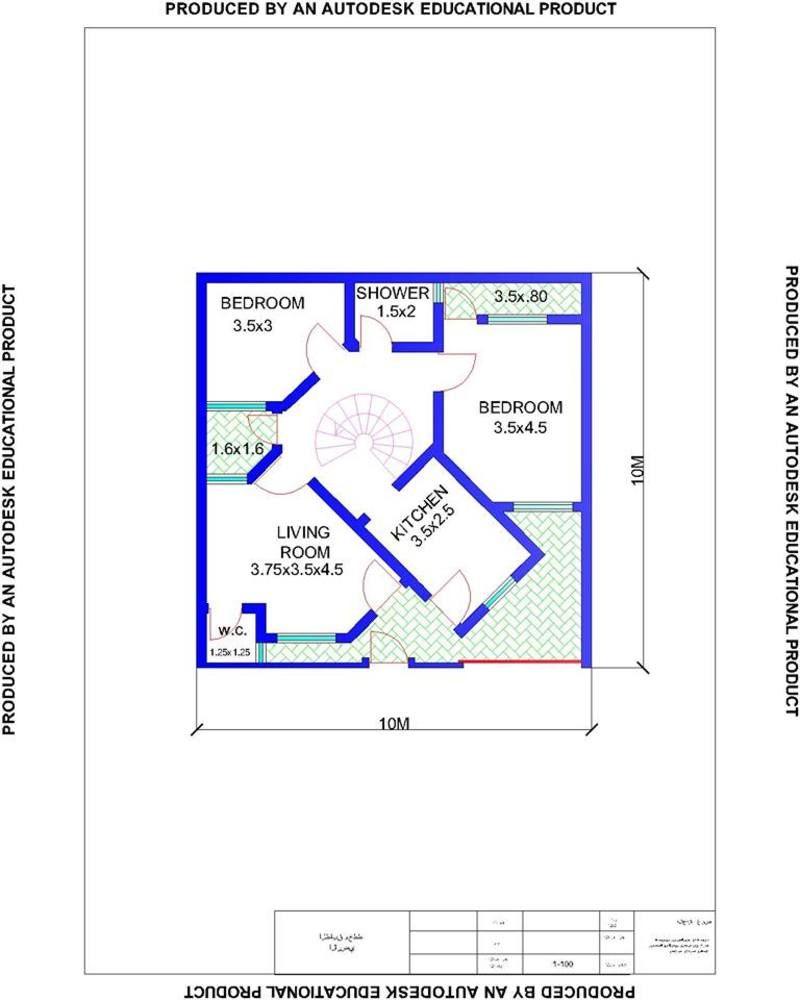 خرائط منازل 100 متر 10 10 المنشور الاول منتديات درر العراق Pdf Books Download How To Plan Pdf Books