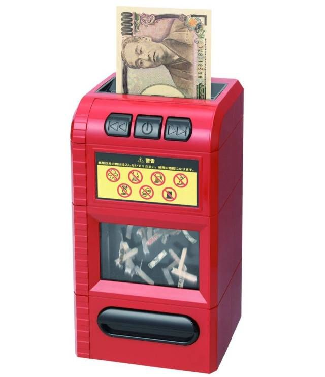 Super Cool Creative Piggy Bank Box Bill Shredder 10 Unique Cool Piggy Banks That You Ll Actually Want To Use Fake Money Piggy Bank Money Bill