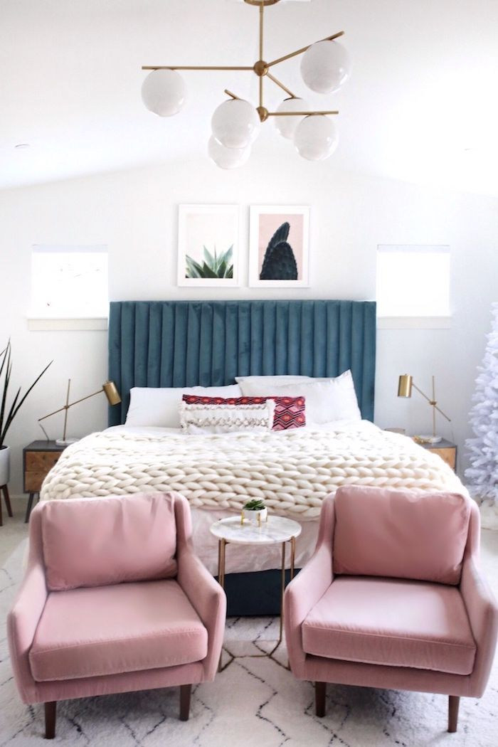 Chambre à coucher adulte moderne déco originale idée image