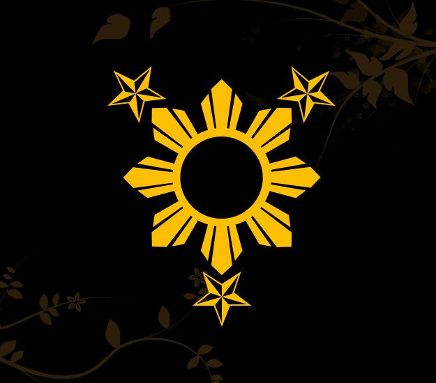 3 Stars and Sun Filipino Philippines Flag Decal for your Car, Walls ...